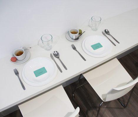 Cocina práctica y funcional del coworking